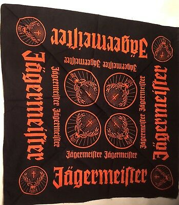 Jagermeister Bandana Stag Cross Distillery Biker Orange Black + boss trike shirt
