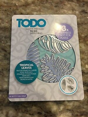 Hot Foil Stamp Plate use with GO PRESS & FOIL, TODO & GLIMMER machines Tropical