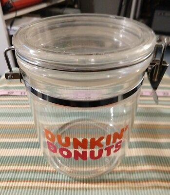Vintage Dunkin Donuts ~ Heavy Acrylic Coffee Canister