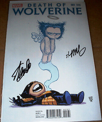 Stan Lee SIGNED Death of Wolverine #1 w/COA Marvel Skottie Young Baby Variant