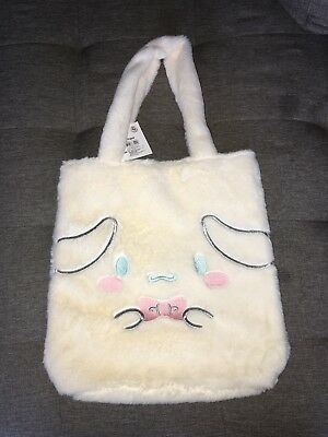 Sanrio Cinnamoroll Cream Fuzzy Soft Tote Bag New with Tags!