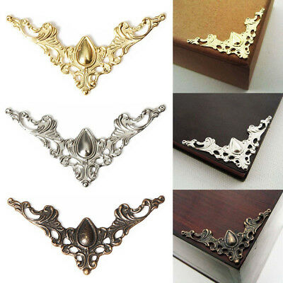 KD_ 24 Pcs Jewelry Iron Case Scrapbook Box Desk Corner Decor Guard Crafts Sanw