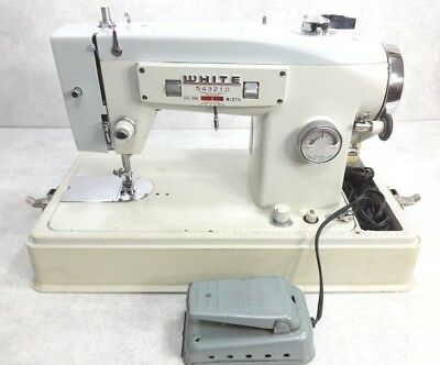 VINTAGE HEAVY DUTY White Sewing Machine Model 40 Denim Canvas Adorable White Heavy Duty Sewing Machine