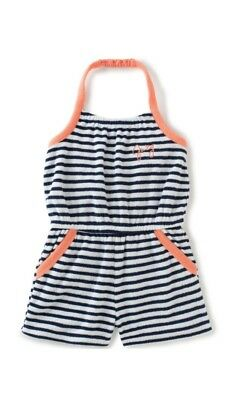 Juicy Couture Big Girls' Romper-Sport, Navy/White, Size 7