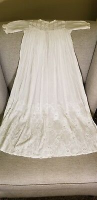 Mid-late 1800's White Heirloom Blessing Christening Baptism Dress from London