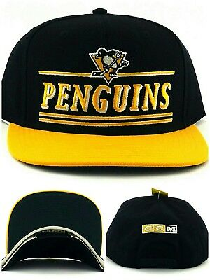 best loved 3cab1 30da8 Pittsburgh Penguins New Adidas CCM Black Gold Stacked Retro Era Snapback Hat  Cap