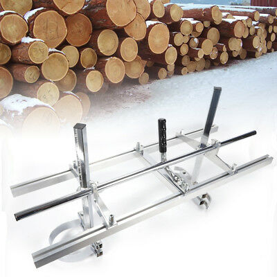 """For 14"""" - 36"""" Bar Portable Chainsaw Mill Log Planking Lumber Cutting Aluminum US"""