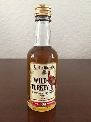 Wild Turkey Bourbon Whiskey Miniature, Mini Bottle