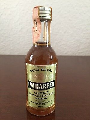 I.W. Harper Bourbon Whiskey Miniature, Mini Bottle