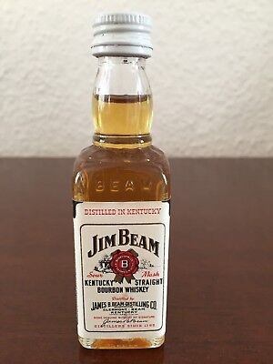 Jim Beam Bourbon Whiskey Miniature, Mini Bottle