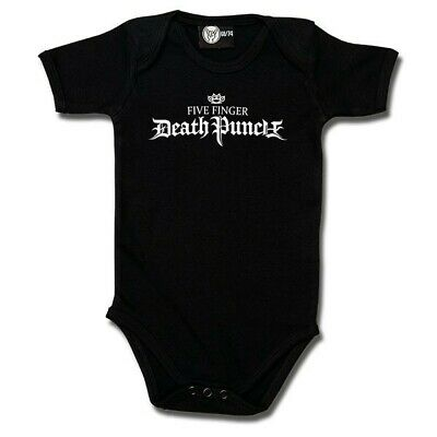 Five Finger Death Punch Logo One Piece Bodysuit Metal Kids Romper Size 0-18