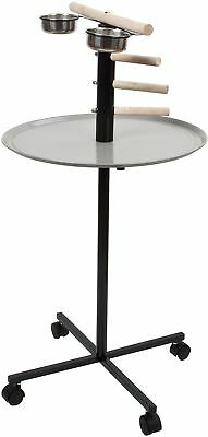 T Bar Stand With Climbers, 3 Perch Climbers - For All African Grey Sized Birds