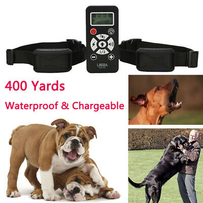 Petrainer Rechargeable Waterproof Dog Training Collar Electric Remote E-Collar