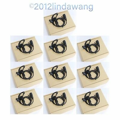 Lot 10 Earhook Headset Earpiece Earphone for Vertex Standard VX-350 VX-351 Radio