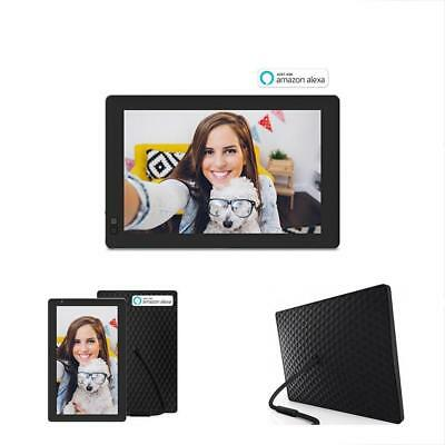 Seed 10.1 Digital Picture Frames Inch Widescreen WiFi Photo With Alexa Black