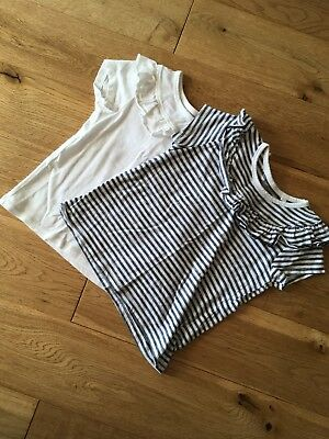 Next girl's two pack short sleeve tops 18-24 months