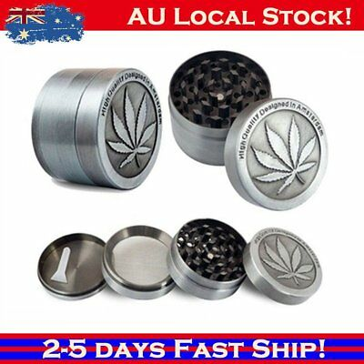 Metal Zinc Alloy Tobacco Herb Grinder 4-Layers Hand Muller Smoke Crusher AU POST