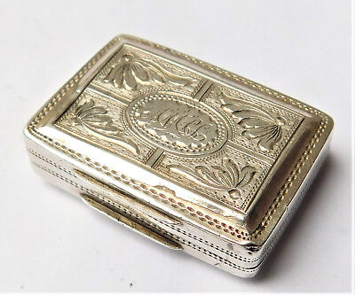 NO RESERVE HM 1821 Silver Vinaigrette Vintage Antique
