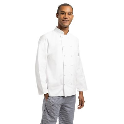Whites Vegas Men Chefs Jacket Polycotton Long Sleeve Coat Top White Workwear