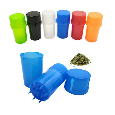 Herb Grinder Hard Plastic Crusher Herbal Spice Grinders Tobacco Storage Case