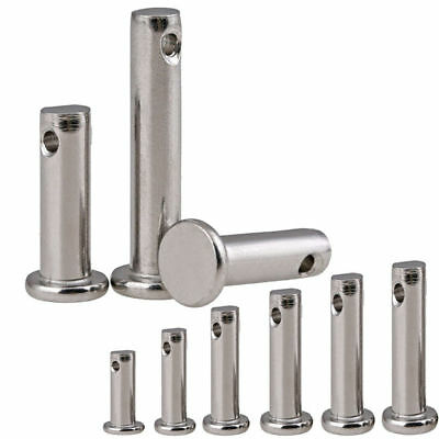 3/4/5/6/8/10mm Clevis Pins Link Hinge Pin Farming Sailing Solid Stainless Steel
