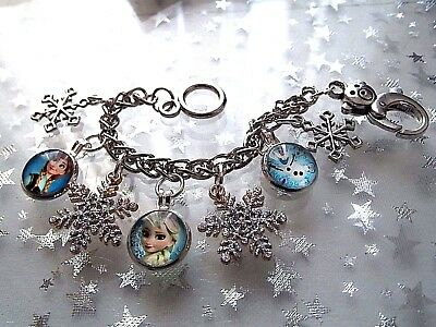 Princess  Frozen  Elsa And Anna Charm Adjustable Bracelet Gift Box 2 To 4 Years