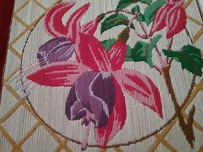 Completed tapestry/crewel/ long stitch of Fushia