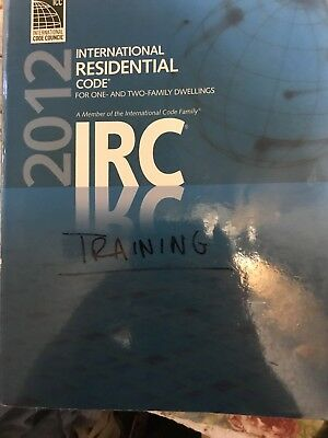 IRC 2012 physical copy softcover International Code Council. ICC for test taking
