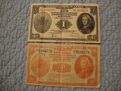 1943 Nederland Indie  Notes And 1990 1000 Lire Notes
