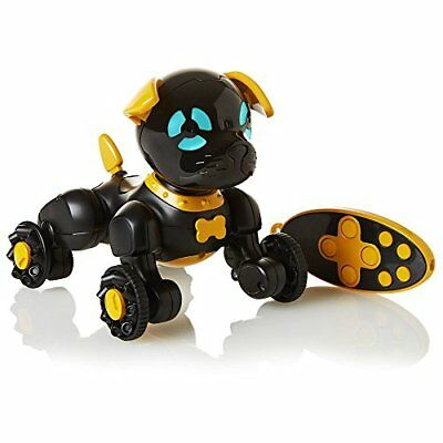 NEW WowWee Chippies Black Chipper Robot Toy Smart Dog Puppy Android iOS Chip.
