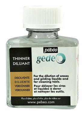 Pebeo Gedeo Thinner Dilutant for Gilding Wax & Brush Cleaning 75ml Bottle