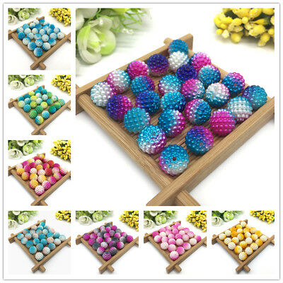 20 pcs 12mm Multicolor Bayberry Beads Imitation Pearl Round Beads Jewelry Making