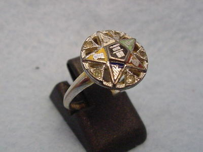 Vintage 10KT. Gold Filled Eastern Star Ring