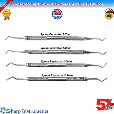 Spoon Excavators For Removal of Carious Dentin Restorative Dental Instruments-X5