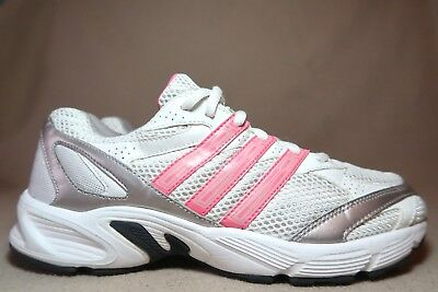 new style 65080 2fe03 ADIDAS VANQUISH 6 W Women s White Pink Silver Casual Trainers UK 6 EU