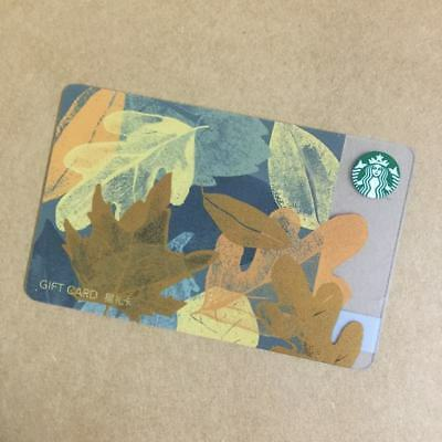 2017 Starbucks China Special Edition Autumn Leaf  Gift Card Pin intact