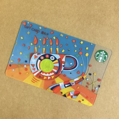 2017 Starbucks China Special Edition Birthday Cup Gift Card Pin intact