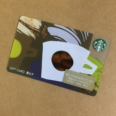 2018 Starbucks China Special Edition Coffee Cup Gift Card Pin intact