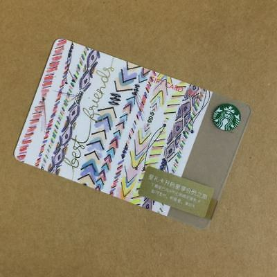 Starbucks China Special Edition Colourful Lines Gift Card Pin intact