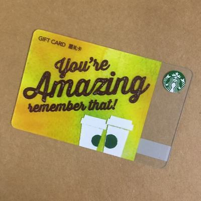 Starbucks China Special Edition You Are Amazing Gift Card Pin intact