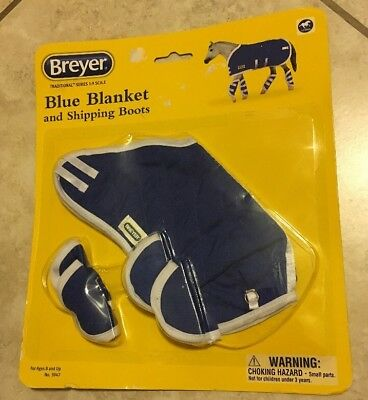 Breyer Blue Blanket & Shipping Boots Model Horse Accessories # 3947