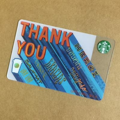 Starbucks China Special Edition Bule Thank You Gift Card Pin intact