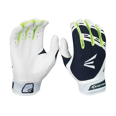 Easton HF7 Hyperskin Women's Fastpitch Batting Gloves - Navy/White - Large