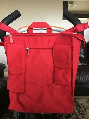 Allerhand red buggy bag. Attaches to pushchair.