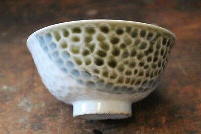 Vintage Japanese Celadon footed Rice or Tea Bowl unknown maker? Antique?