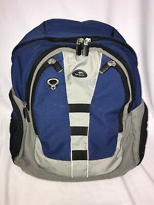 "Samsonite Tectonic 17"" Perfect Fit Laptop Backpack Blue Gray Black Nylon"
