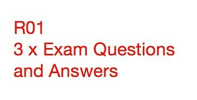 CII R01 Revision text and 3 x Exam Questions and Answers 100% positive reviews!