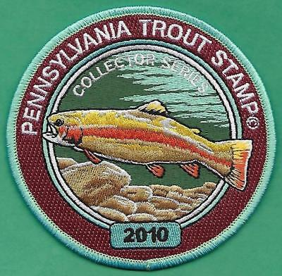 Pa Pennsylvania Fish Game Commission Wilderness Edition 2010 Trout Stamp Patch