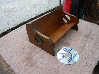 Vintage  Book  Trough / Stand, Ideal For Cd's & Dvd's