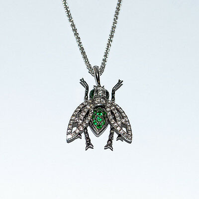a5fa9e5840f8 STEPHEN WEBSTER Fly By Night Superfly Bee 18 KT White Gold Diamond Necklace
